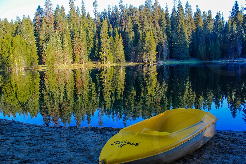 Boat in Sequoia NP photo