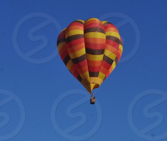 Traveling in a hot air balloon  photo