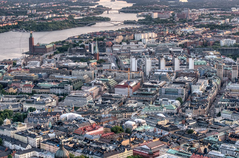 metropolis aerial photography  photo