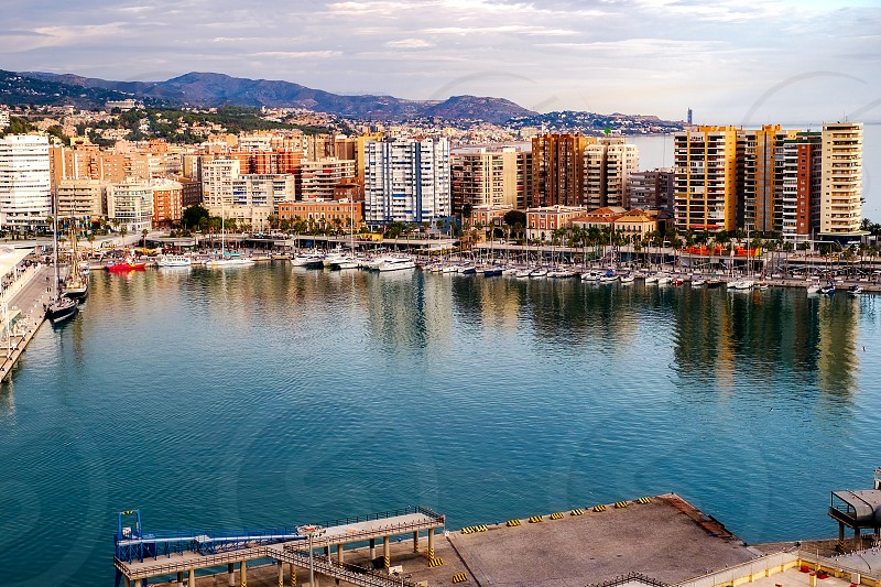 Malaga Spain - November 25 2017. Malaga harbor Costa del sol Spain. photo