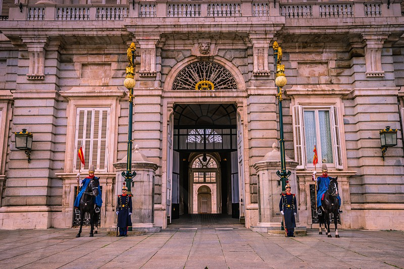 Royal Palace Madrid Spain. photo