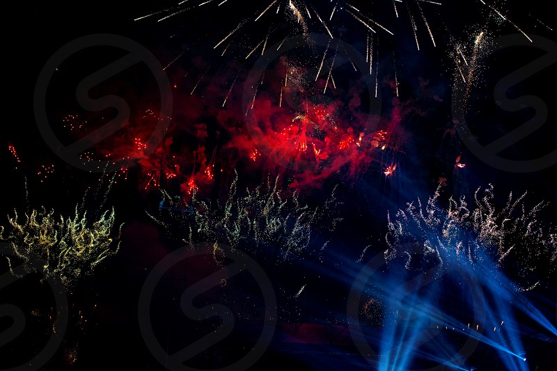 The color and excitement of fireworks.  photo