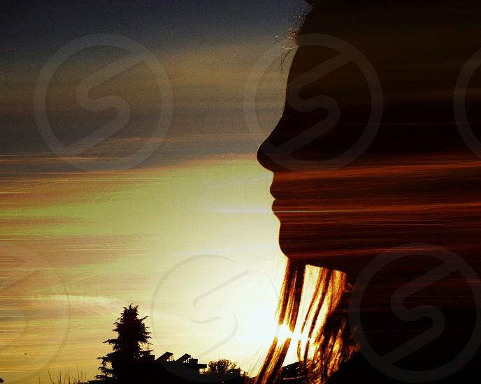 female silhouette photo