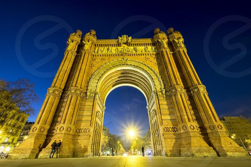 Arch of Triumph in Barcelona Catalonia Spain photo