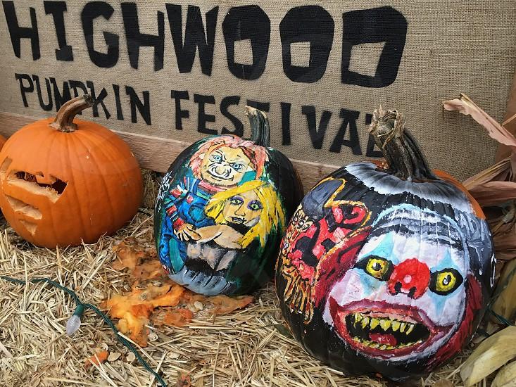 Spooky Halloween Happy Halloween Pumpkins Paint Scary Pumpkin Festival By Natasha Rogachevsky Photo Stock Snapwire