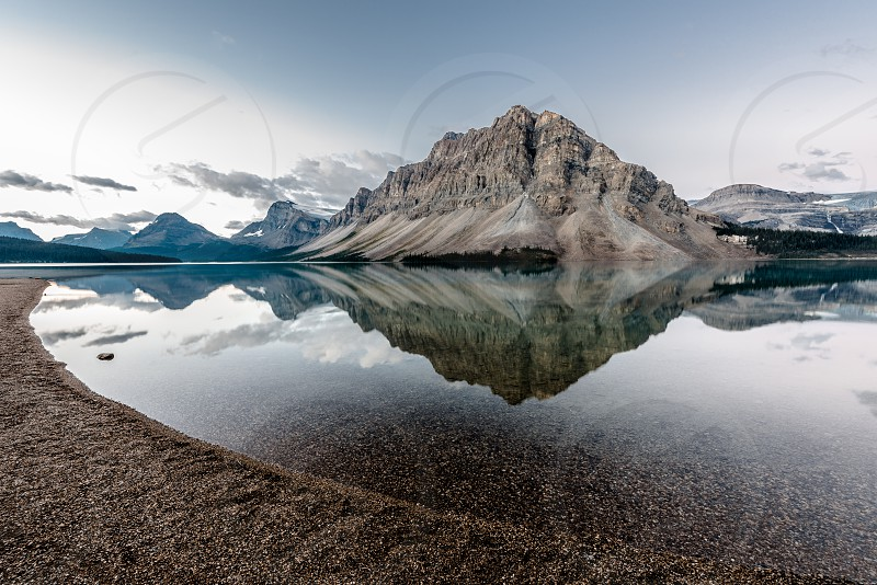Bow Lake at sunrise photo