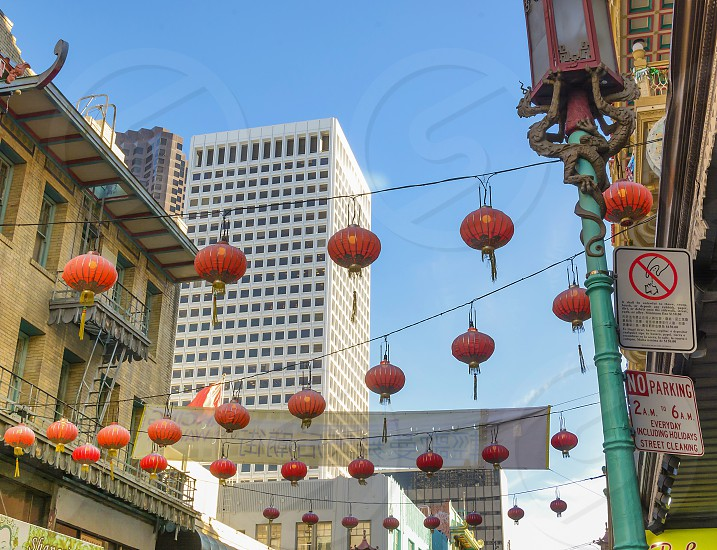 Chinatown San Francisco California Asian lanterns photo