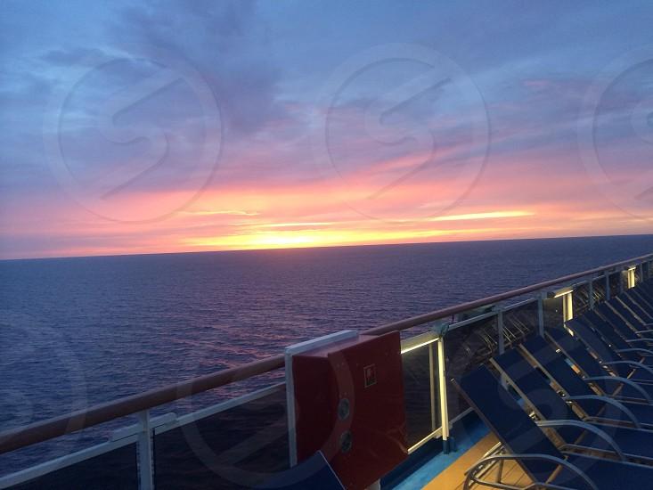 Sunset on cruise ship  photo