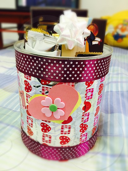 Milk can Diy box for Chocolates  photo