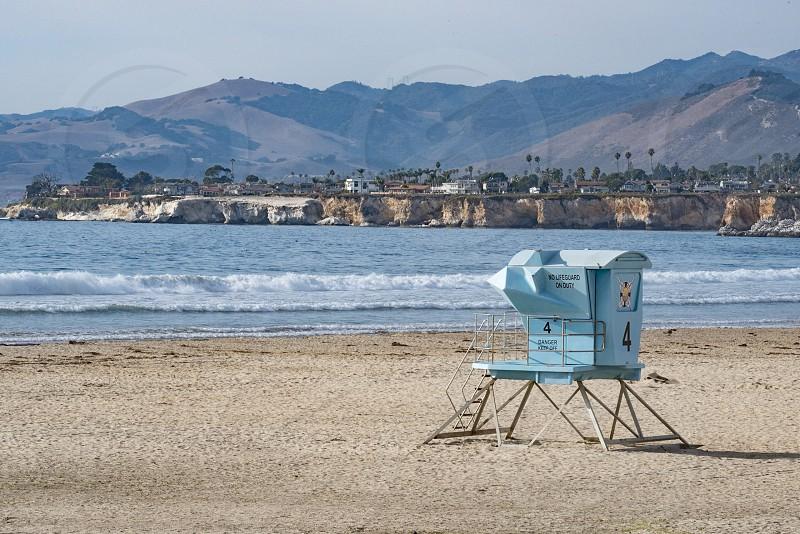 Pismo beach California lifeguard tower beach ocean pacific water photo
