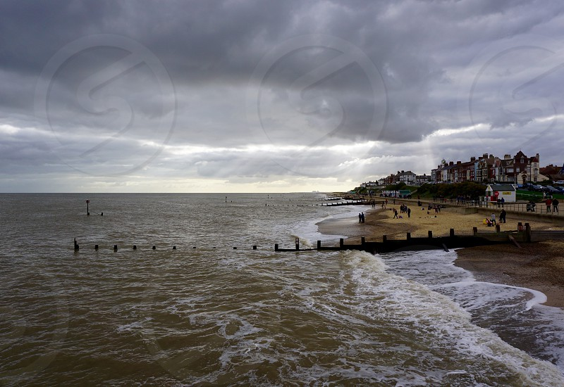 Coastal Scene Storm Brewing Suffolk                            photo