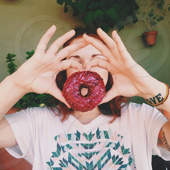 red donut  photo