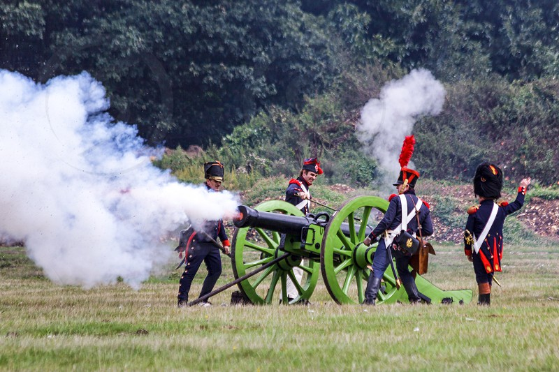 Firing the Cannon photo