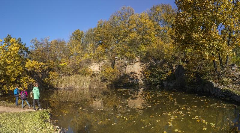 Uman Ukraine - 10.13.2018. Amazing autumn around the old ponds in Sofiyivka park in Uman Ukraine photo