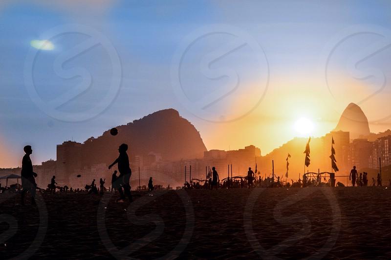 Rio de Janeiro Brazil sunset  photo