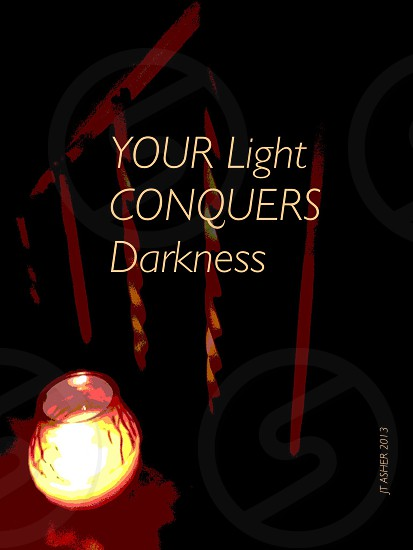 Light conquers darkness photo