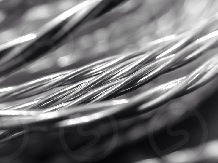 Wire macro photo