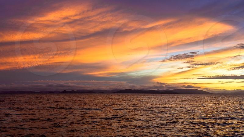 Oceanic sunset photo