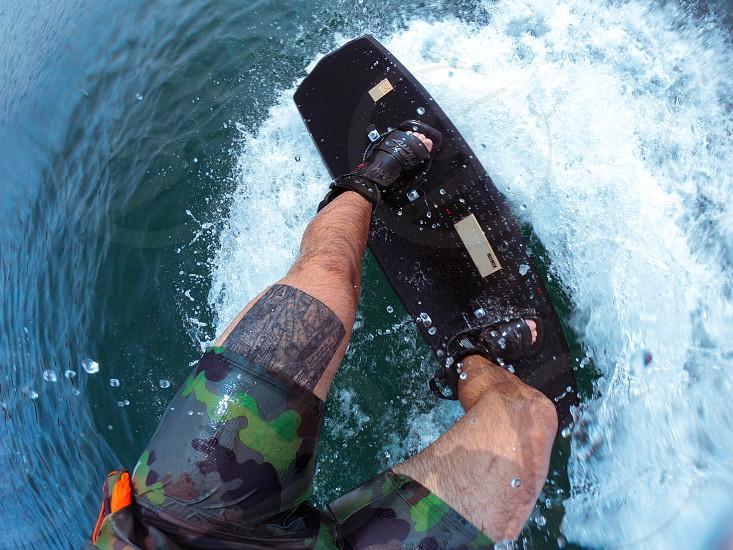 Wakeboarding is fun  photo