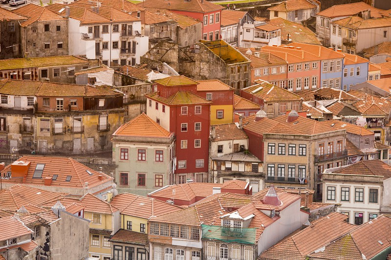 the old town of  ribeira in the city centre of Porto in Porugal in Europe. photo