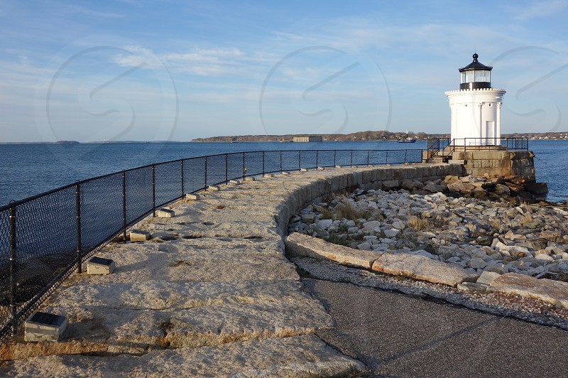 Lighthouse on Casco Bay in Portland Maine photo
