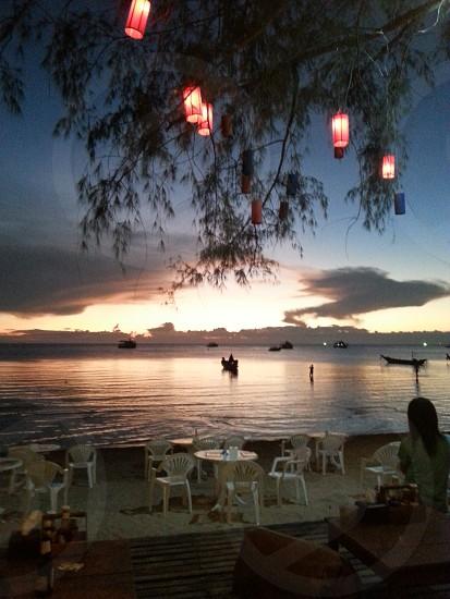 sunset beach . koh tao . thailand photo