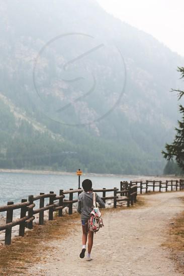 travel trip road lake landscape mountain ceresole italy photo