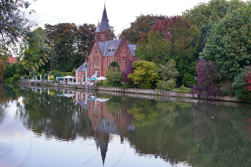 The Minnewaterpark in Bruges Belgium photo