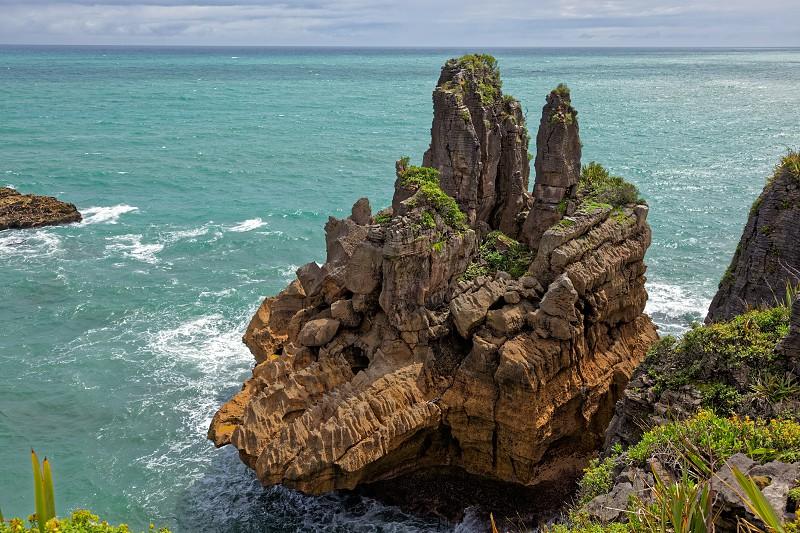 Pancake Rocks near Punakaiki photo