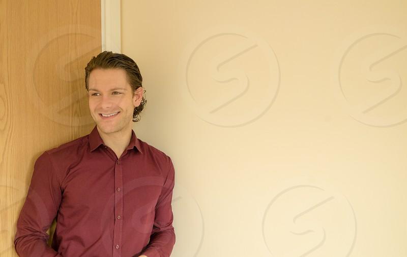smile man shirt entrepreneur confident office work  photo