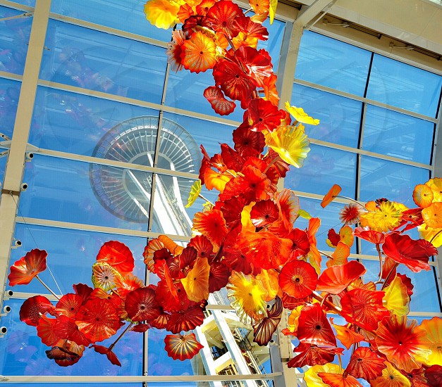Seattle; Space Needle ; Chihuly glass photo