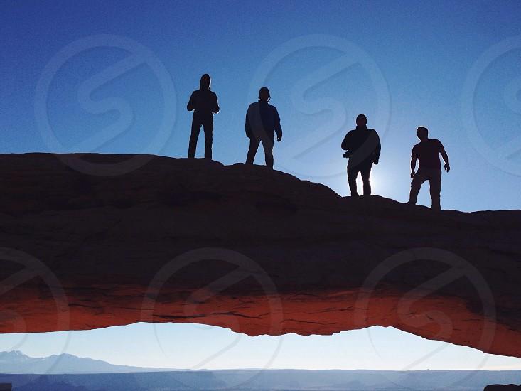 men silhouette  photo
