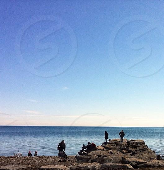 rocky seashore photography photo