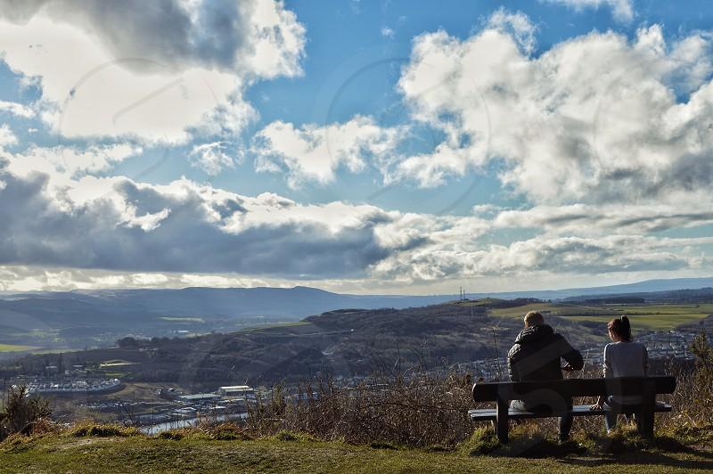 Landscape Scotland Scottish bench photo