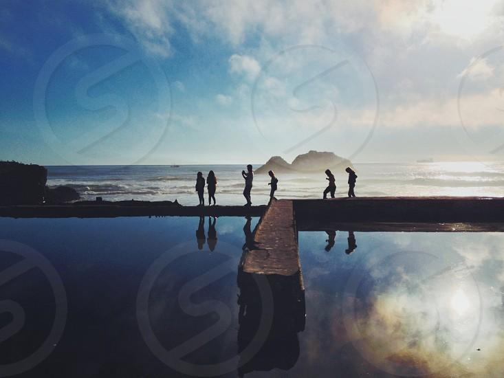Sutro Baths Beach San Francisco CA photo