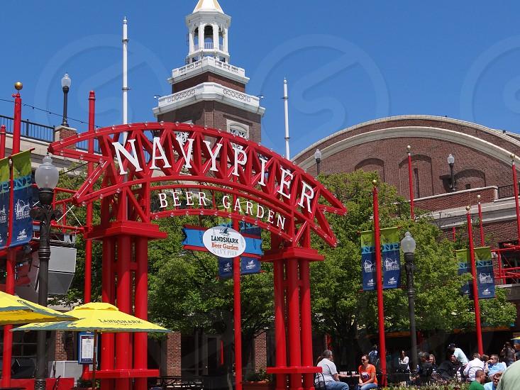 Chicago's Navy Pier Beer Garder photo