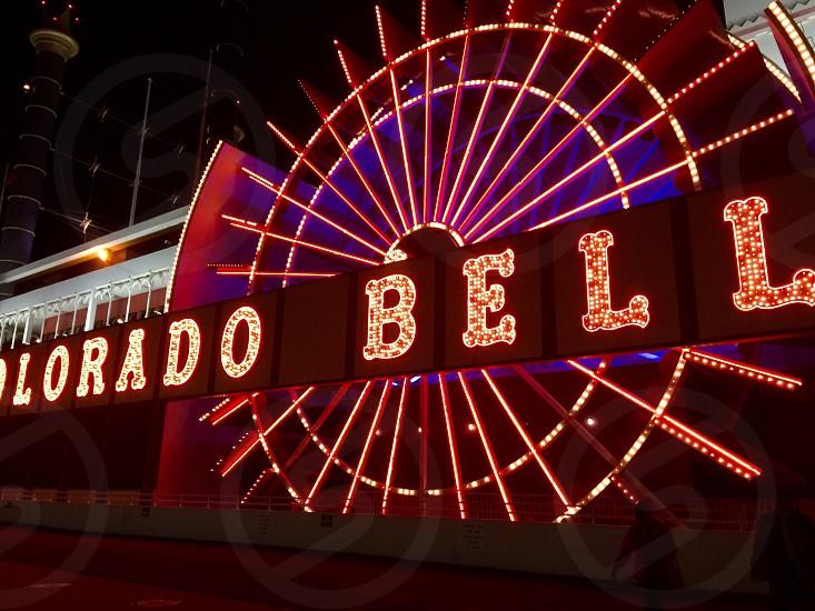 photo of red LED signage photo