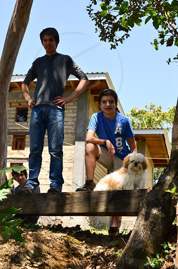 Family Explore Vacations Travel Dog Discover Boys Cabin Mexico Camping Hiking photo