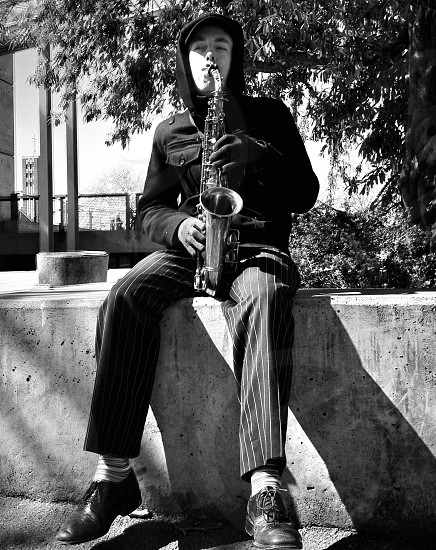 Sax Player | Seattle Washington photo