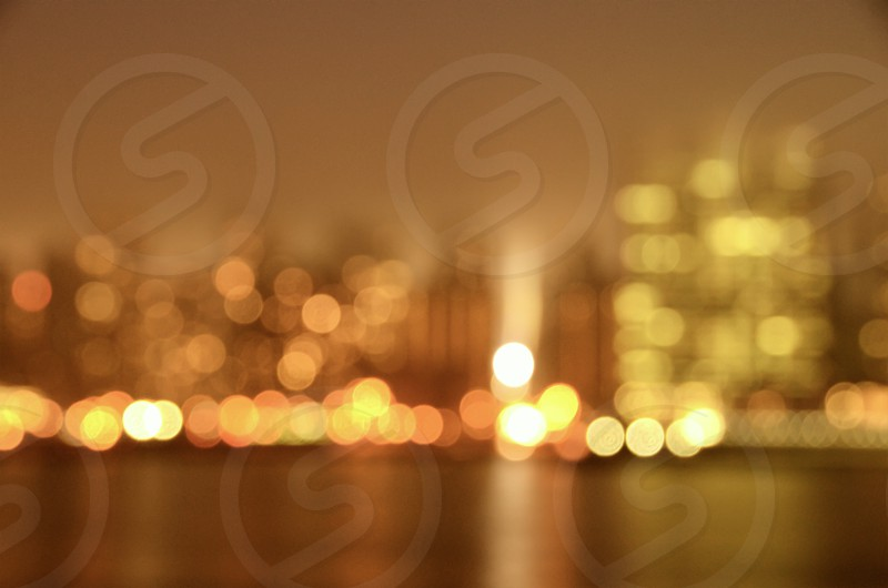 city lights on a blurry photography photo