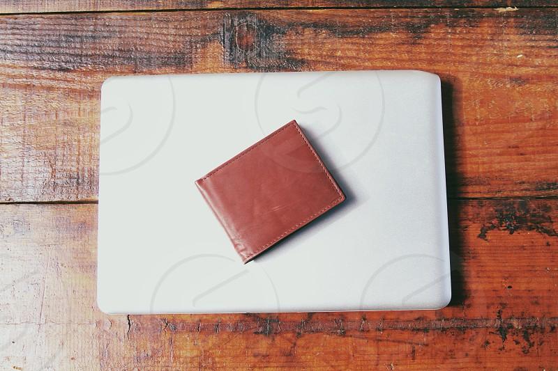 red bifold wallet photo