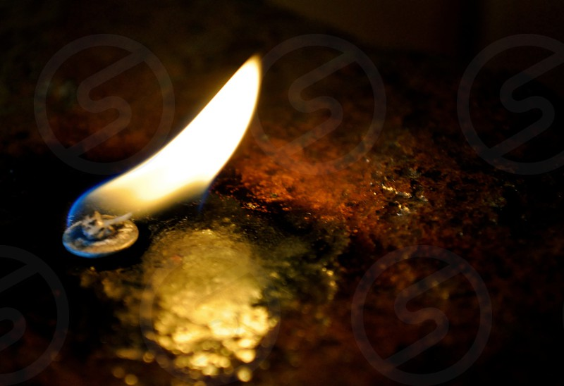 Candle and flame photo