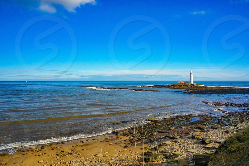 Saint Mary's lighthouse North East England  photo