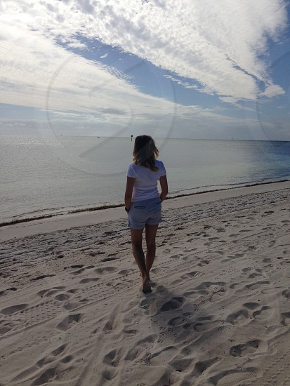 key west florida ocean beach sand photo
