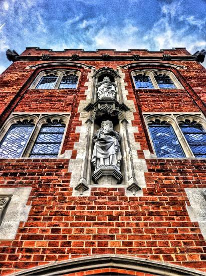 red brick wall cladding photo