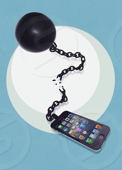 Ball and chain apple iphone photo