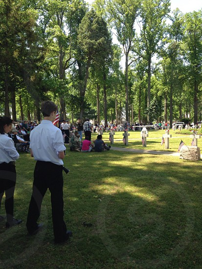 Memorial Day ceremony marching band patriotic Vineland  photo