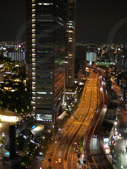 city buildings during night time photo