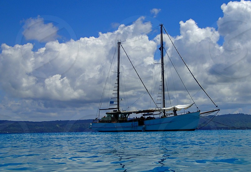 Sailing in the Pacific Ocean photo