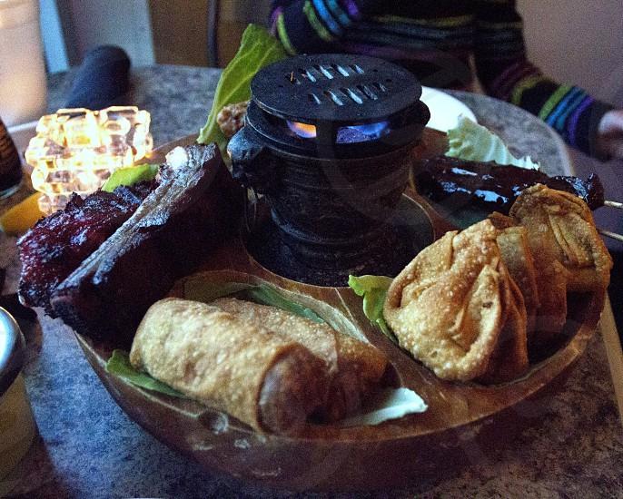 Pu Pu platter Chinese food photo